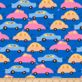 QT Fabrics City Gals Cars Royal