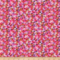 QT Fabrics City Gals Packed Flowers Black