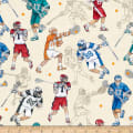 QT Fabrics Dan Morris Stick With It Lacrosse Light Cream