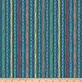 QT Fabrics Wild Things Stripe Dark Dusty Blue
