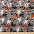 Trick Or Treat Nightime Friends Gray