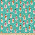 Santa And Friends Snowman Turquoise
