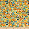 Fabri-Quilt Portofino Village Multi/Yellow