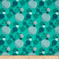 On Your Mark Abstract Dots Teal/Multi