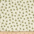 Andover/ Makower UK Rex Palm Trees White