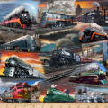 QT Fabrics Artworks IX Classic Trains Multi