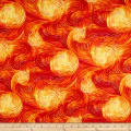 QT Fabrics Artworks IX Ombre Swirl Orange
