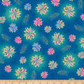 QT Fabrics Enchanted Floral Tossed Floral Blue