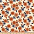 QT Fabrics Gretta 1930's Spaced Floral Cream
