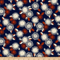 QT Fabrics Gretta 1930's Spaced Floral Navy