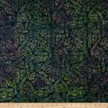 Timeless Treasures Tonga Batik Lush Patchwork Navy