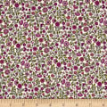 Andover/Makower Bloom Floral Scroll Pink