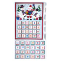"Andover/Makower Jolly Santa Advent Calendar 24"" Panel Multi"