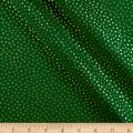 Andover/Makower Silent Night Snowball Spot Metallic Green