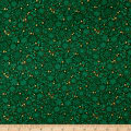Andover/Makower Silent Night Metallic Tonal Green