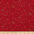 Andover/ Makower Silent Night Metallic Tonal Red