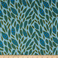 Andover Mosaic Leaves Cerulean