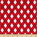 Michael Miller Rustique Winter Gift Wrap Red
