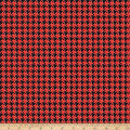 Riley Blake Kiss Me Kate Houndstooth Red