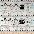 Riley Blake Paperdoll Stripe Off White