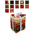 Kaufman Holiday Flourish 21 Pcs. Fat Quarters Bundle Metallic Holiday