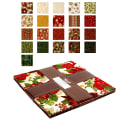 "Kaufman Holiday Flourish 10"" Squares 42 Pcs. Metallic Holiday"