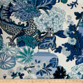 Schumacher Chiang Mai Dragon Indoor/Outdoor China Blue