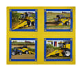 "New Holland Combine Pillow 36"" Panel Multi"