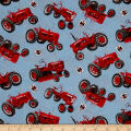 Farmall Tossed Tractors Allover Multi
