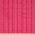 Stylized Stripe Lace Fuchsia