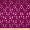 Floral Curly Corded Lace Magenta