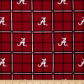 NCAA Alabama Crimson Tide Flannel Plaid  Red