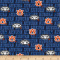 NCAA Auburn University Tigers Distressed Logo Allover