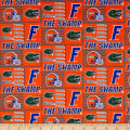 NCAA University of Florida Patch Logos Allover