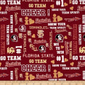 NCAA Florida State Univeristy Glitter Allover