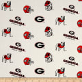 NCAA University of Georgia Tossed Logos White