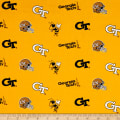 NCAA Georgia Tech Tossed Logos Yellow/Black
