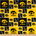 NCAA Iowa Checked Logo Allover Yellow/Black