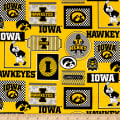 NCAA Iowa Packed Patches Allover Yellow/Black