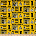NCAA Iowa Patch Logos Allover Yellow/Black