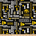 NCAA Iowa Glitter Allover Black/Yellow