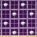 NCAA University of Kansas State Jayhawks Flannel Plaid Purple