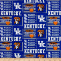 NCAA University of Kentucky Patch Logos Allover Blue