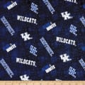 NCAA University of Kentucky Distressed Logo Flannel Blue