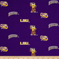 NCAA Louisiana State University Herringbone Allover Purple