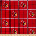 NCAA University of Louisville Cardinals Flannel Plaid Red/Black