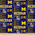 NCAA University of Michigan Patch Logos Allover Blue/Yellow