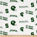 NCAA Michigan State University Tossed Logos White
