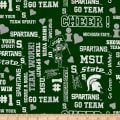 NCAA Michigan State University Mist Allover Glitter Green/White