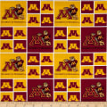 NCAA Minnesota  Patches Allover Red/Yellow